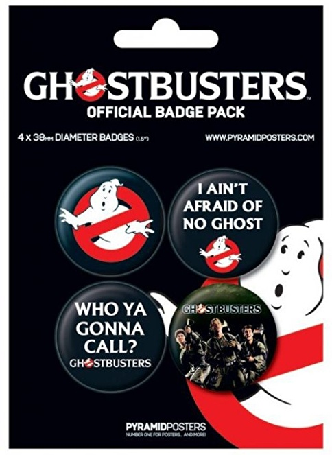 Pyramid International Rozet Seti - Ghostbusters - Peter Ray & Egon Renkli